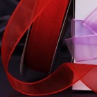 "Organza Shimmer Red 1"" Organza Ribbon"